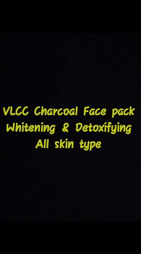 skin care #VlCC_charcoal_face_pack