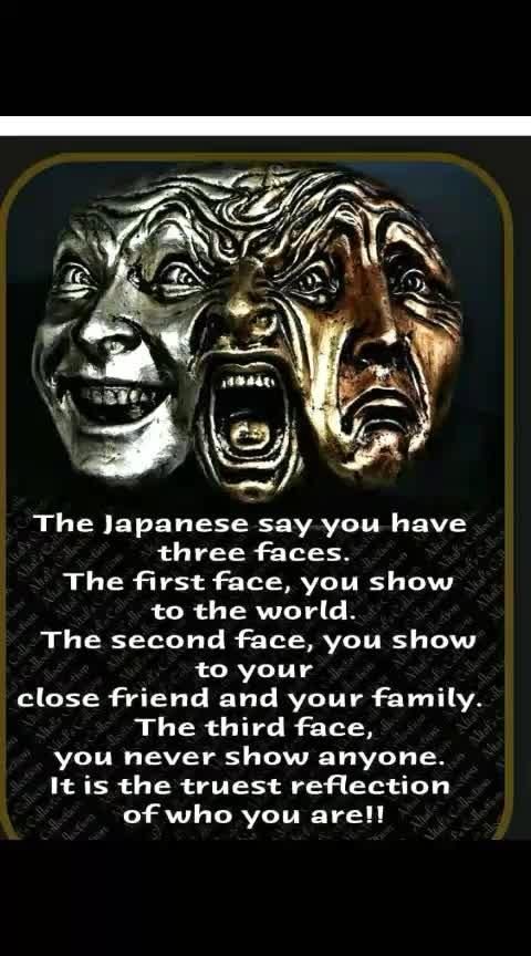Three faces.