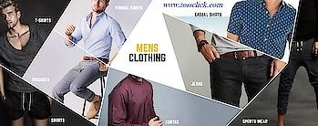 A World Collection Of Men's Wear #Shirt #Trousers #T-shirt #Jeans #Sports Wear #Ethnic Wear #Formal Wear #Casual Wear  www.tossclick.com