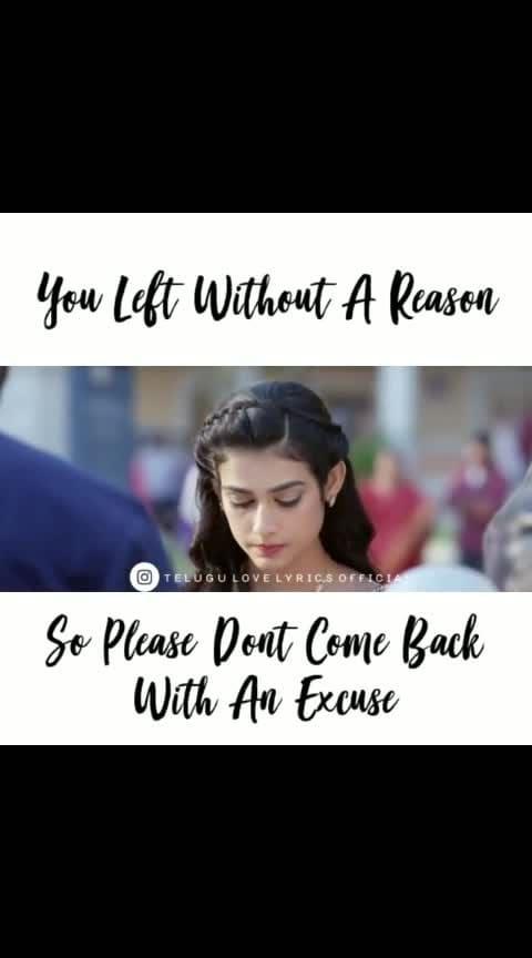 #malliraava #mallirava_ #youleft #without #reason #dont #comeback #excuseme #mallirava_title #sushanth #malliraava