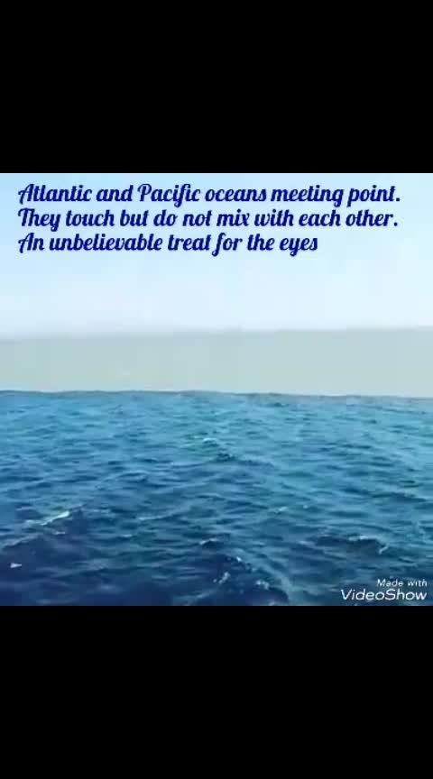 Atlantic and pacific Ocean சந்திக்கும் இடம், உலக அதிசயம் 😯😯