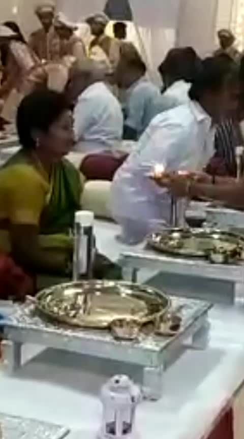 Jewellers Owner Serving Dinner in Gold coated plates in Chennai.
