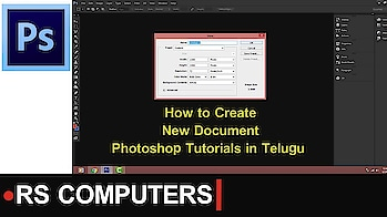 How to Create New Document in Photoshop||Photoshop Tutorials in Telugu