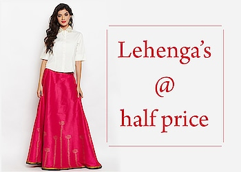 Lehenga's @ half price!  https://bit.ly/2X2gwpB  #9rasa #colors #studiorasa #ethnicwear #ethniclook #fusionfashion #online #fashion #like #comment #share #followus #like4like #likeforcomment #like4comment #ss19collection #embroidered #lehenga #halfprice @offer #50percentoff