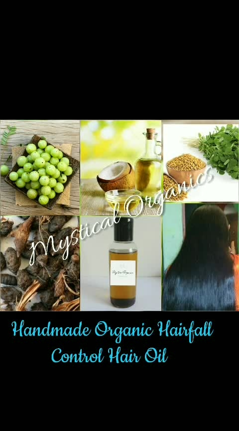 #BESTHAIROIL #CONTROLSHAIRFAL #HOMEMADE #ORGANICHAIROIL  Mystical Organics Has Made this Hair Fall Control Oil Keeping You In Mind.  Infused Herbs Hair Oil For Hair Fall Control.  Hair fall hair oil combats hair fall and enhances hair growth. Infused with   Indian gooseberry and Fenugreek Seeds, this herbal oil strengthens the hair follicles and root shafts, thus inhibiting hair fall. Indian gooseberry is a well known natural tonic that enhances hair growth. Fenugreek, a rich source of lecithin and proteins, nourishes the hair roots. This component also rebuilds and strengthens the hair shafts. Moreover, its medicinal properties help reduce hair thinning. Regular use of Mystical anti hairfall oil, therefore keeps your hair healthy and shiny.  What's Mystical Organics  Anti-Breakage Hair Oil, And Why Is It One Of The Best Hair Oils On The Market?  🌟 Fenugreek nourish the hair, reduces hair breakage and split ends.  🌟Amla effectively moisturizes the hair and scalp, and helps prevent dryness and hair damage.  🌟Coconut Oil stimulates hair growth getting deep into its follicles. Coconut oil adds luster, shine and softness to the hair.   🌟Works great as a relaxing scalp massage before you shampoo.  🌟 Provides lasting moisture for overstressed hair in distress.  🌟 Excellent Changes can be seen within weeks  Contains: Indian gooseberry, fenugreek, Coconut oil and nagarmotha  Strengthens hair follicles, Stops hair fall and Rebuilds and strengthens the root shaft Relieves dry and itchy scalp  Directions:Use three times a week: This oil should be used three times a week for better results. Being suitable for all skin types this oil can be used both mens and womens  🌟Part your hair and apply oil on the scalp. Massage the scalp gently in a circular motion using your fingertips so that the oil is absorbed into the scalp. Leave overnight or for an hour or more before washing.   If allergic to any of the ingredients kindly dont use the oil  ✨ Not tested On Animals ✨ Strengthens hai