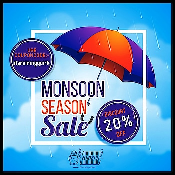 Flinty wants you to turn up the quirk this monsoon, so here's a sweet discount 💁.  #monsoonsale #sale #discount #finally #happy #quirky #innovated #innovation