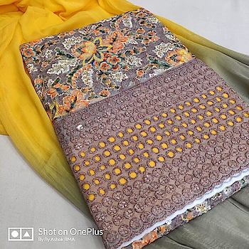 MAHIKAA COLLECTIONS LAUNCHES online selling of WOMEN FABRICS. Please click on picture or our online link below or BUY DIRECTLY FROM US USING PAYTM / BANK TRANSFER CONNECT WITH US AT info@mahikaa.in or WhatsApp : 7984456745  Kurta cotton digital print chicken embroidery with sequence work Cotton salwar fabric Duptta chiffon   #saree #sareelove #sarees #fashion #sareeblouse #indianwear #onlineshopping #love #sari #indianfashion #indianwedding #handloom #sareefashion #ethnicwear #indian #sareeindia #traditional #india #lehenga #silksaree #sareesofinstagram #wedding #styles #silk #indiansaree #style #silksarees #kanchipuram #designersaree