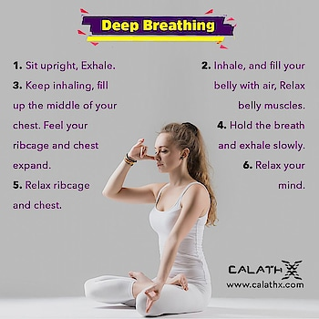Deep #Breathing Benefits  www.calathx.com  #Fitspo #Fitfam #GirlsWhoLift #Legday #NoPainNoGain #FitLife #GetStrong #Workout #TrainHard #Gains #Strengthtraining #Physiquefreak #Yoga #CrossFit #FitFluential #Squats #Healthylife #like4like #follow #calisthenics #nature #health #asthma #breathingexercises #breath