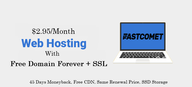 Get Your Website/blog online with a free lifetime domain name. Buy Web Hosting from FastComet & Get free Domain name Forever: http://bit.ly/2yB03KV  Offer includes Free SSL Certificate, Site Builder, CDN, SSD, cPanel, Daily Backups, 45 Days money back, Free site transfer and many more: http://bit.ly/2POXlJ5