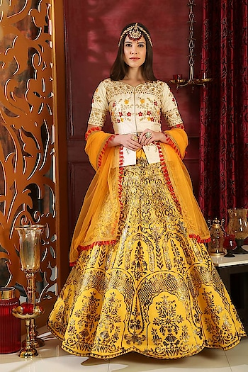 Visit Mirraw, to shop online #SilkLehengaCholi at best prices with fastest international shipping. Visit a website to see more collection : https://www.mirraw.com/store/silk-lehenga