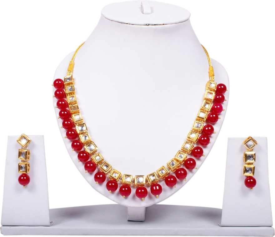 Kalavi  Crystal Jewel Set  (Red, White)  Rs. 349/-  Click here for the same: https://bit.ly/2X3LGYE