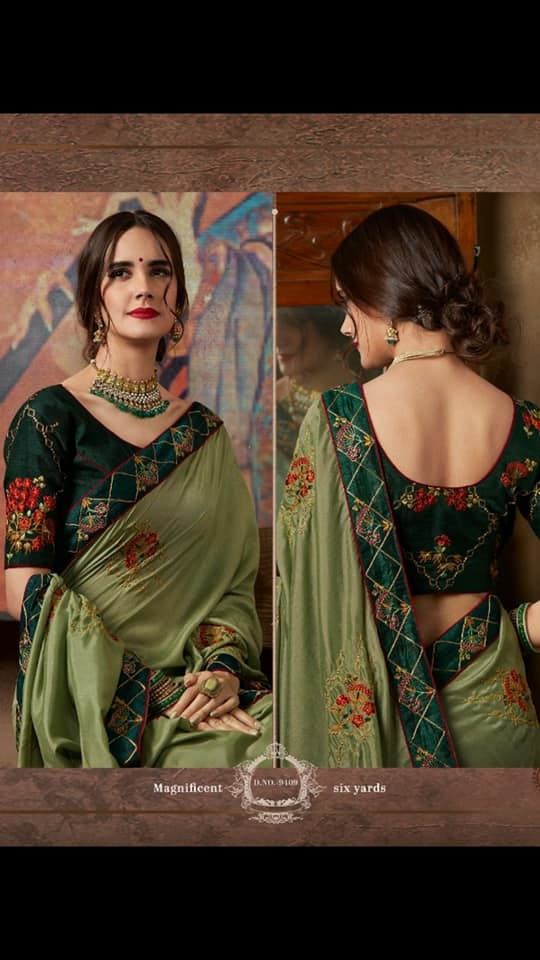 MAHIKAA COLLECTIONS LAUNCHES online selling of WOMEN FABRICS. Please click on picture or our online link below or BUY DIRECTLY FROM US USING PAYTM / BANK TRANSFER CONNECT WITH US AT info@mahikaa.in or WhatsApp : 7984456745  GEORGETTE/ SILK EMNROIDERED SAREE WITH WORK BLOUSE    #saree #sareelove #sarees #fashion #sareeblouse #indianwear #onlineshopping #love #sari #indianfashion #indianwedding #handloom #sareefashion #kanchipuram #indian #sareeindia #traditional #india #lehenga #silksaree #sareesofinstagram #wedding #styles #silk #indiansaree #style #silksarees #kanchipuram #designersaree
