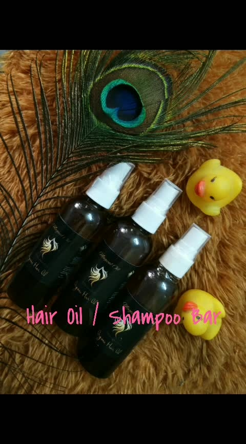 #Homemade #handmade #Shampoobar #HairOil Available Shampoo Bar,  Hair Oil  Vegan Shampoo Bar for beautiful long hair Rehair growth, silky shinny and soft hair  Ingredients  Curry Leaves, Shikakai, Bharmi, Amla, Curry L & S, Hibiscus L, Jojoba Oil, Castor Oil, Tea Tree Oil, Coconut Oil, Fennugreek, Nagarmotha, Bhrijraj  etc.  New to Natural Shampoo Bars? Here are a few things to know:  *There is a big difference between natural and commercial shampoos: natural bars don't contain the preservatives, or the sulfates that cleanse by stripping everything – not just the daily dirt buildup but also the good natural oils on your hair. This means that natural shampoos leave hair generally more moisturized and with much more texture (as opposed to the sleek and squeaky feel).You may also find that your hair will need to adapt to the shampoo bars over time (don't give up if after 2 or 3 days your hair is acting 'differently'!). Many people's hair tends to take a while to get accustomed to a natural shampoo when switching away from commercial shampoos - it is part of a 'detoxifying' process as the synthetics that have built up on your hair are slowly removed Gluten Free, SLS Free, Zero Chemicals---Nothing that your body doesn't need! Leaves your hair clean, shiny, conditioned and full of volume.  Made with moisturizing and conditioning Castor Oil, Tea Tree Oil, Avocado Oil, Cocoa Butter, Jojoba Oil, Shea Butter, Pure Coconut Oil Ingredients: Coconut Oil, Tea Tree Oil, Castor Oil, Avocado Oil, Cocoa Butter, Jojoba Oil, Shea Butter, Neem Oil, Brahmi Powder, Bhringraj Powder, Hibiscus Leaves, Shikakai , Reetha , Amla , Curry Leaf .  Remember to keep your shampoo bar dry in between uses just like my other handmade soaps by using a soap dish with drain holes. It will last you even longer.  Inbox To Place Your Orders   🌻Delivery 5-7 days upon Payment confirmation 🌻Payment mode - Online bank transfer Payment, BhimPay, Google Pay  Why wait order now!!