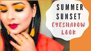 SUMMER SUNSET EYESHADOW LOOK / SUMMER EYEMAKEUP TREND 2019