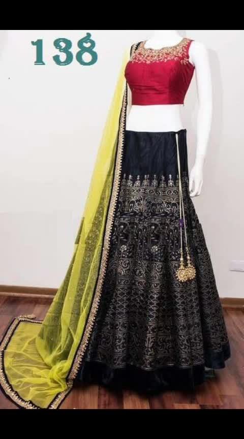 """#rjs #₹1499WithFreeShipping  _LEHENGA DETAIL_* _FABRIC : Banglory Satin_ _FLAIR : 2.4meter😍_ _WORK : Heavy Embroidery_ _Inner : Ultra satin_  _Semi Stitched_ _Up to 46"""" Size (LENGTH : 44"""")_  *_CHOLI DETAIL_* _FABRIC : BANGLORY SATIN_ _WORK : Embroidery_ _Un-Stitched 0.80 Meter_ _Up to 46"""" Size Available_  *_DUPATTA DETAIL_* _Tissue Net Dupatta (2.1mtr)_ _ Embroidery lace Work_"""