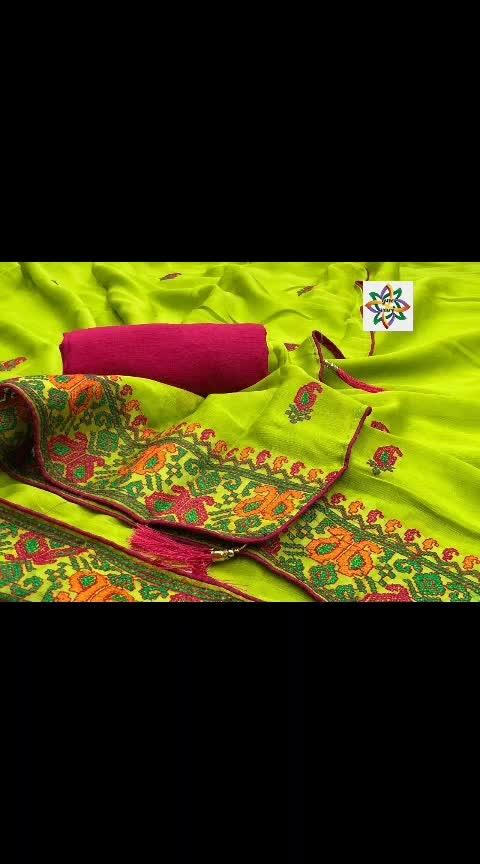 #rjs #₹999WithFreeShipping  👉Gvs - Kashmiri work 👉Fabric Khicha Silk Saree 👉Blouse Banglore Silk  👉Emorodairy Work With Piping