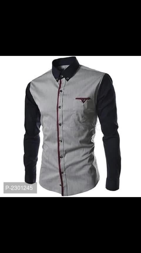 Men's Cotton Solid Slim Fit Casual Shirts  *Fabric*: Cotton  *Type*: Long Sleeves  *Style*: Solid  *Design Type*: Slim Fit  *Sizes*: S (Chest 39.0 inches)*: M (Chest 41.0 inches)*: L (Chest 43.0 inches)*: XL (Chest 45.0 inches)  *Delivery*: Within 6-8 business days  *Returns*:  Within 7 days of delivery. No questions asked    ⚡⚡ Hurry, 5 units available only