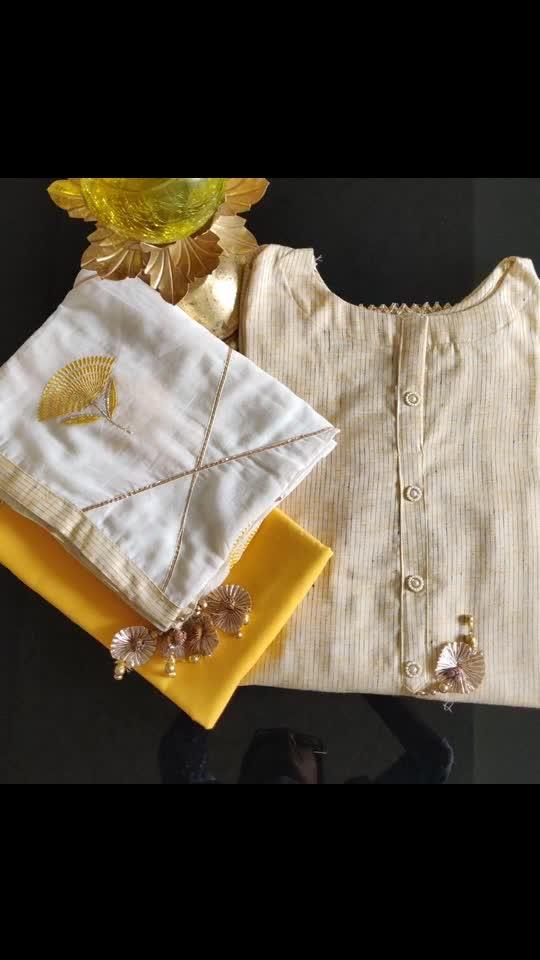 Rate:2550/-  Beautiful textured cotton shirts 🌸🌸🌸 Cotton bottoms Cotton gota and threadwork dupattas🌸🌸🌸