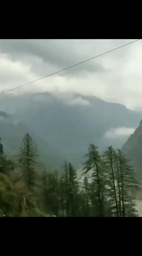 #roposo-good #goodmorning #foggywheather #mountains #himachalpradesh #solan #shimla #mandi