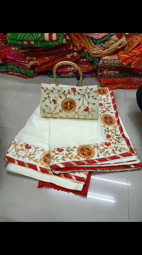 #apr #1999WithFreeShipping  Fabric- Dola Silk Premium Quality *1 Saree with Blouse and 1 Good Quality Purse*