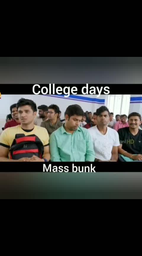 #collegedays  #inlove  #massbunk  #collegelife