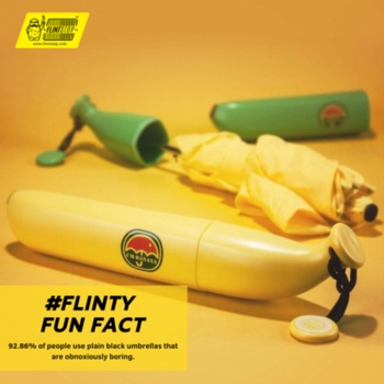 Stand out from the crowd with the super-compact Banana Umbrella.   #funfact #banana #umbrella #quirky #innovative #floods #yellow #sayings