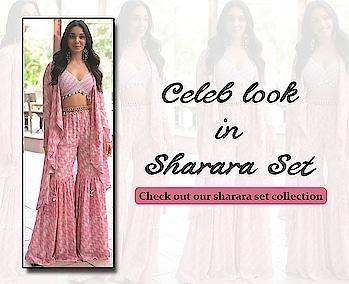 Celeb look in sharara set!  https://bit.ly/309eEZq  #9rasa #colors #studiorasa #ethnicwear #ethniclook #fusionfashion #online #fashion #like #comment #share #followus #like4like #likeforcomment #like4comment #ss19collection #celebslook #celebrityfashion #kiaraadvani #sharara #shararaset