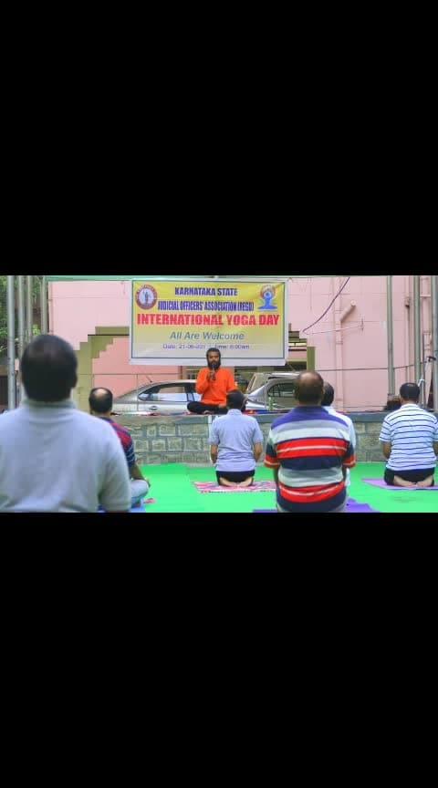 Yoga day celebration Karnataka at #judicial academy  #Yogaforjudge #ngv #indiayoga #yogaposes #yogalover  #yogaadvice  #ojasyogaacademy #yogabandhuprashanth  #yogalover #yogaflow  #instasmile #mistress #instahealthy #yogabody  #proudfitfam  #fitness #fitspiration #fitnessmotivstion #yoga  #yogainspiration #fitfam  #smile😊  #yogaphotography