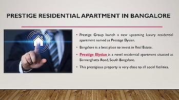 Prestige Elysian | New Premium Apartment | Prelaunch Offers | South Bangalore  Refer: https://start.me/p/jjg80n/prestige-elysian