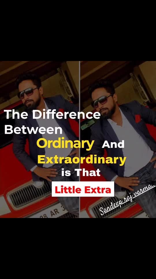 "The Difference between Ordinary and Extraordinary is that Little Extra🔥🔥🔥 ""Effort"" ""Determination"" ""Hardwork"" . #Sandeeprajvarma #motivationaltrainer  #passion #successcoach #Lifecoach #Entrepreneur #passionatequotes #passionquotesoflife #successquotes #lovelife❤️ #motivation #passion #empowering #motivationquotes #motivation videos #lovingpassion #followingpassion 🔥🔥🔥🔥🔥🔥🔥🔥🔥🔥🔥"