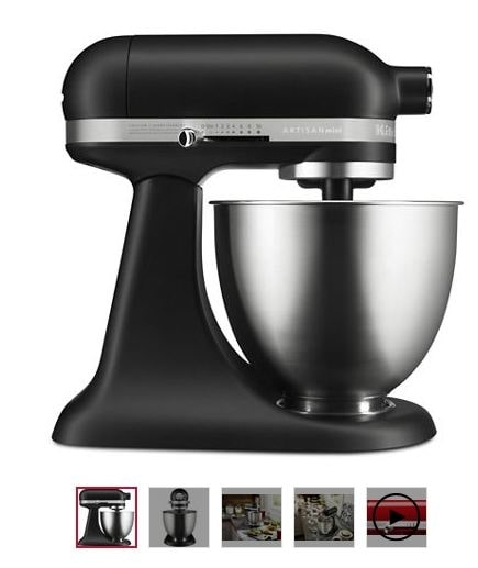 16% off on KitchenAid Artisan Mini Stand Mixer(Black Matte). Shop now for Rs. 26999/- and save Rs. 5001/- on MRP.  Shop from Here: https://www.kitchenaid.in/countertop-appliances/stand-mixers/tilt-head-stand-mixers/p.artisan-mini.5ksm3311xbbm.html  #KitchenAidIndia #Offers #Discounts #summerbonanza