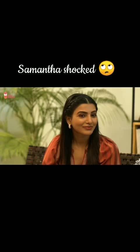 Samantha shocked 😲#ohbaby #samantha #gangavva #chaibisket #telugu #ohbabymovie #ohbabysam #interview #samantha_akkinenni #roposo-telugu #filmistaanchannel #filmistaan