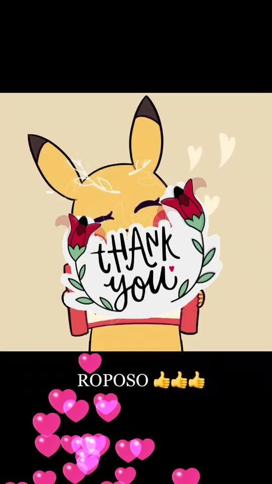 Thankuuuuuu ROPOSO 👌👍 #thankyou #thankyou