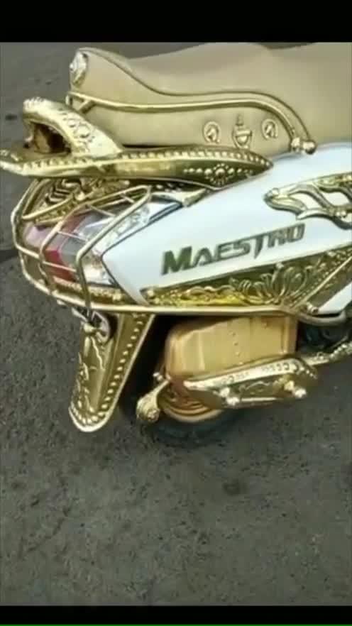 Best Two wheeler decorated.... maestro_two wheeler #trending #trending_special