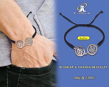 Ik Onkar & Khanda Bracelet In Silver. Visit - http://bit.ly/2JgtIyx  #Ik Onkaar Bracelets #IkOnkaar #Ik Onkaar Silver #Gold Bracelets #Bracelets #jewelslane #aumkaara #shop jewellery #onlinejewellery #handmadejewellery #jewelerygifts