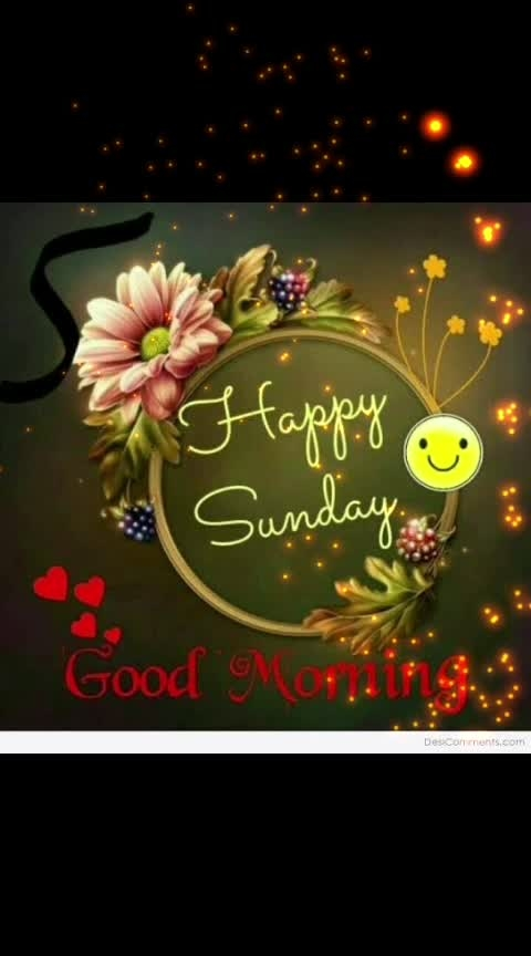 Sunday! #goodmorning #dailywisheschannel #dailywishes #sundaymorning #happysundayeveryone #roposodailywishes