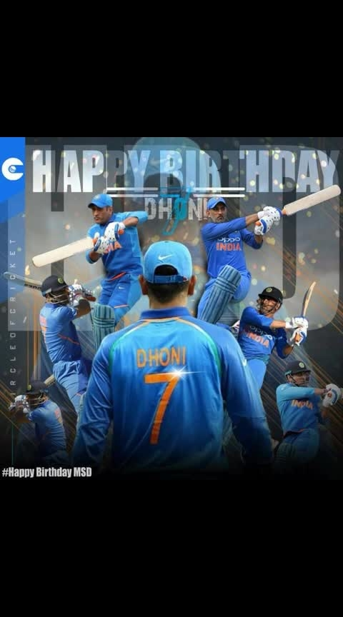 7 continents in the World  7 days in a week 7 colours in a rainbow  7 basic musical notes 7 chakras in a human being  7 pheras in a marriage 7 wonders of the world  7 th day of 7th month- Birthday of a wonder of the cricketing world #HappyBirthdayDhoni . May God Bless You!