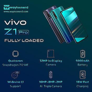 #Vivo Z1 pro #specification  www.waytoonerd.com/  #technology #tech #electronics #follow #technews #iphone #apple #xiaomi #oppo #android #sony #instagram #asus #mobile #samsung #intex #india #phone #samsunga #smartphone #camera #huawei #instatech #geek #developer