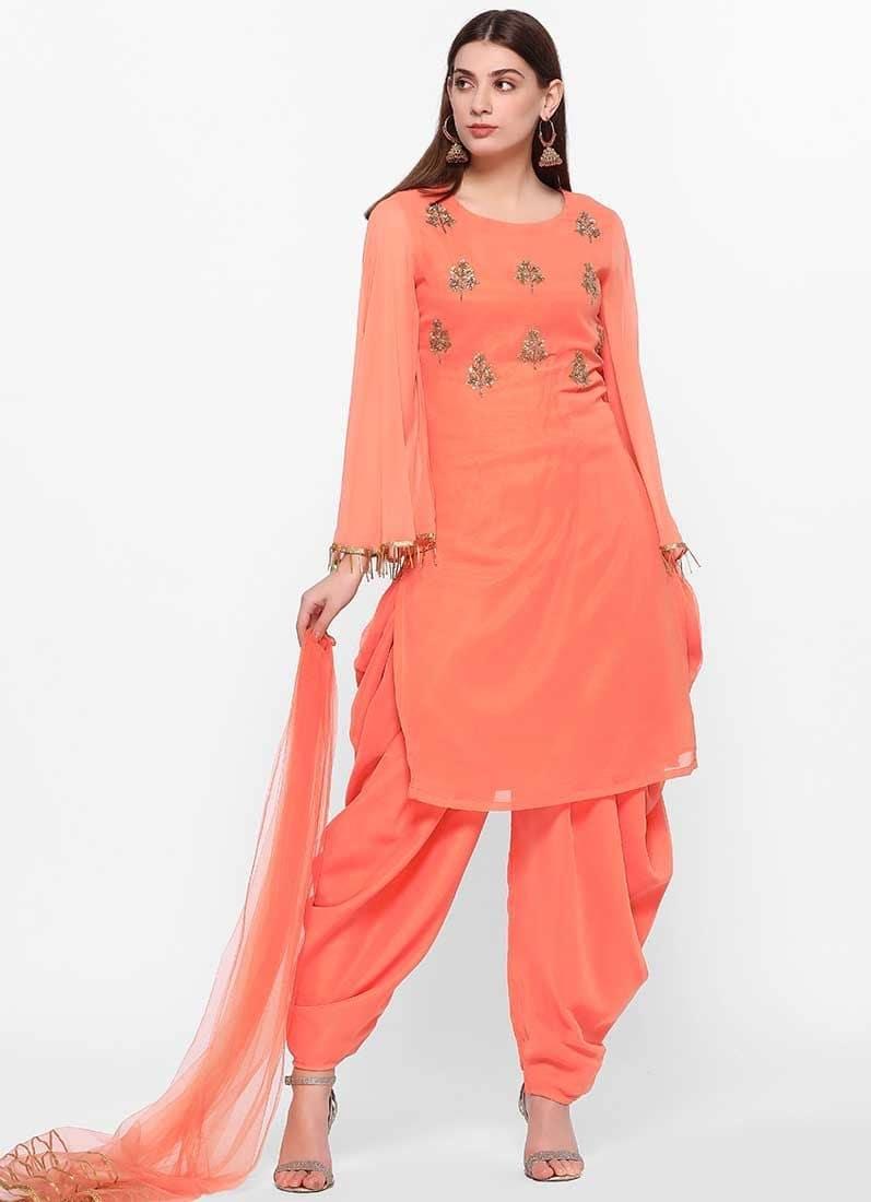 Diya Online - Peach Beaded Salwar Suit  Link - https://www.diyaonline.com/peach-beaded-salwar-suit-ls-3215.html  #peachlove #salwarsuit #dresses #trendyoutfit #diyaonline #embroideredsuit
