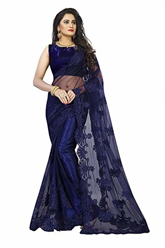 Radiance Star Women Embellished Coloured Embroidered Heavy Net Fabric #Saree with #Blouse @ Rs.1299. Buy Now at http://bit.ly/30m9WaI