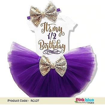 Purple 1/2 Birthday Outfit - 6 Month Birthday Cake Smash Dress Contact :+918000011699 Shop Now : https://www.pinkblueindia.com/6-month-cake-smash-dress.html  #babygirl #romper #babyromper #onesie #babyonesie #halfbirthdayonesie #halfbirthdayoutfit #babyoutfit #halfbirthday #birthdayonesie #tutu #skirt #birthdaydress #halfbirthdayphotoshoot #cakesmashoutfit #newbornbaby #pinkblueindia