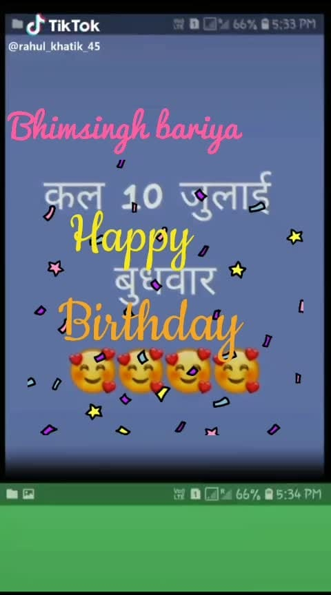 Bhimsingh Bariya #ka #happy #birthday #ha