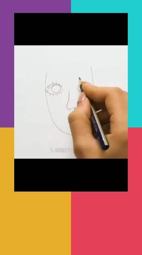 How to draw a face (for beginners)    #timelapse #sketch #drawing #art #freehand #diubeach #comicart #face #girls #speedart