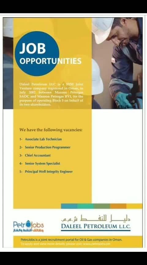 #job #arab #uae #soudi #ksa #petroleum #khaleejtimes #gulfjob