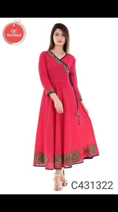 Catalog Name: Festive Anarkali Cotton Kurtis  Details: Product Name: Adorable Cotton Anarkali  Kurti Description: It has 1 Piece of Kurti  Kurti  Fabric: Cotton Size: S-34 M-36 L-38 XL-40 2XL-42 Kurti Length: 56 inch Neck/ Collar Type: V neck Sleeves: 3/4 Sleeves Hemlines: Straight, Horizontal Stitched Type: Ready to Wear Cut/ Shape: Anarkali Pattern: Anarkali Occasion: Casual Wear Multipack Set: Single Wash Care: Hand Wash Color Declaration : There might be slight variations in the actual color of the product due to different screen resolutions. Product Weight (In gm): 350gm Package Dimension ( L X W X D in Inches):13 x 11 x 1 inch  Dispatch: 2-3 Days  पैकेज में शामिल हैं: 1 कुर्ती   कुर्ती  कपड़ा: साटन आकार: S-34 M-36 L-38 XL-40 2XL-42 स्लीव्स: 3/4 Sleeves लंबाई: 56 Inch पैटर्न: अनारकली स्टिच टाइप : रेडीमेड  (डिस्क्लेमर  - स्क्रीन सेटिंग के कारण उत्पादों का रंग वास्तविक उत्पाद से भिन्न होगा)  Designs(डिज़ाइन): 9  💥 FREE Shipping (फ्री शिपिंग) 💥 FREE COD (फ्री केश ऑन डिलीवरी) 💥 FREE Return & 100% Refund (फ्री रिटर्न और 100% रिफंड)  💰 Price (मूल्य): ₹644  🚚 Delivery: Within 7 days (डिलीवरी 7 दिनों में)