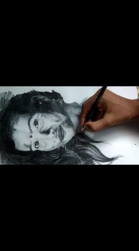 how is it please comment👇 if anyone is interested please inbox me #portrait #sketch #art #girls
