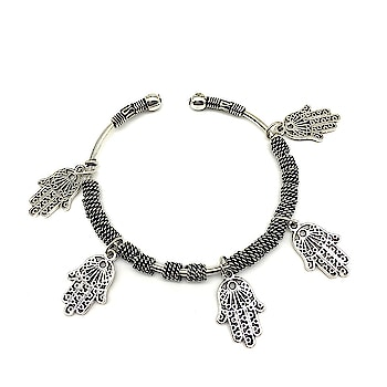 Silver Hamsa Charm Bangle Bracelet❤ Rs 235/- Item Code :(🔎1402NB13) Purchase From Our Website - https://digitaldressroom.com/collections/bracelets #bracelet #bracelets  #bangle #silver #silverbangle #silverbracelet #hamsabangle #hamsabracelet #charmbangle #charmbracelet #westernjewellery #jewellery  #bangledesign #love #mumbai #india #women #girls #casual #style #girlsjewellery #jewelrydesign #partywear #westerndesigner #onlineshopping #fashionblogger #jewelry  #westernjewellery #westernwear #accessories #fashionjewellery #jewelrylovers #fashionjewellery #womenjewellery