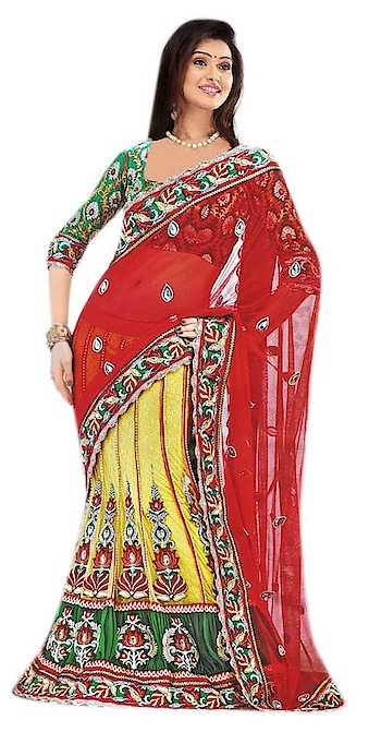 Grab attractive discounts on #LehengaSarees available at Mirraw, in different attractive patterns and colors. Shop from : https://www.mirraw.com/store/lehenga-sarees
