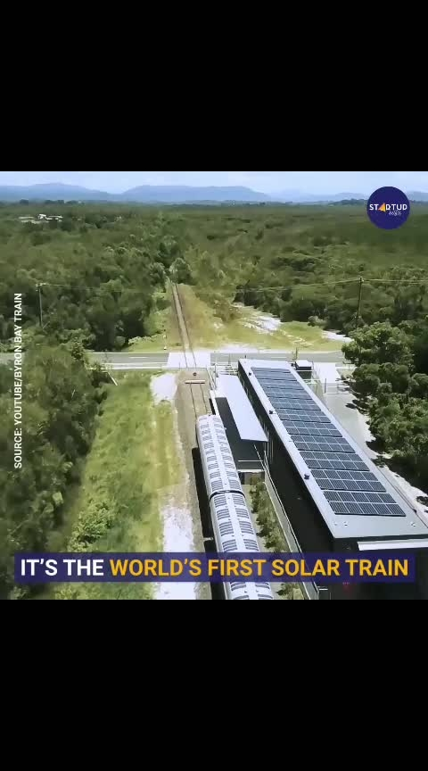 World's First Solar Powered Train