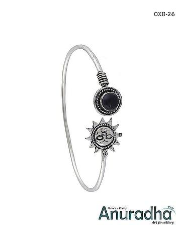 Fashionable Oxidized Bracelet. Whatsapp us for more designs  . . . . . . . . . . . . .  #oxidisedkada #oxidizedkada #oxidized #oxidisedjewellery #bracelets #oxidizedbracelet #kada #bangles #banglebracelets #silverbracelet #silverkada #jewelleryonline #jewelry #navratrijewellery #germansilverjewellery